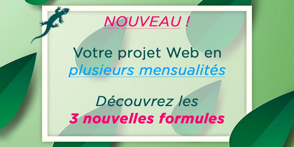 Mon projet Web - Les nouvelles formules