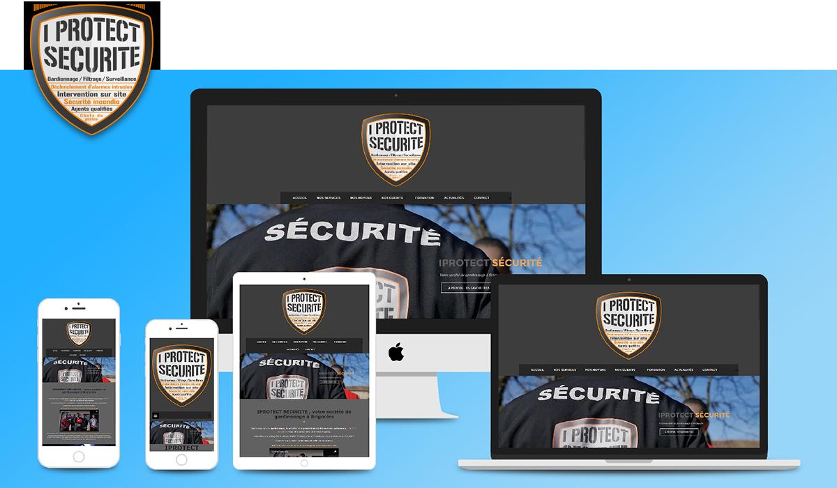 Site Vitrine iProtect Sécurité